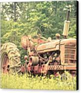 Old Farmall Tractor At Sunrise Canvas Print by Edward Fielding