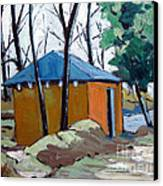 Old Golf Course Shed No.5 Canvas Print by Charlie Spear