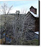 Old Grain Barn Canvas Print by Steve McKinzie
