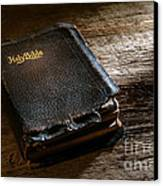 Old Holy Bible Canvas Print by Olivier Le Queinec