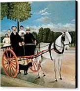 Old Junier's Cart Canvas Print by Henri Rousseau