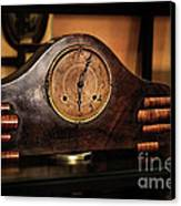 Old Mantelpiece Clock Canvas Print by Kaye Menner