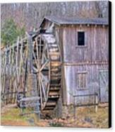 Old Mill Water Wheel And Sluce Canvas Print by Douglas Barnett