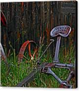 Old Mower Canvas Print by Mike Flynn