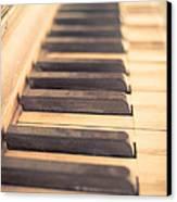 Old Piano Keys Canvas Print by Edward Fielding
