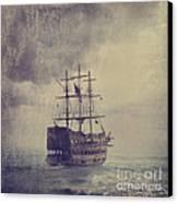 Old Pirate Ship Canvas Print by Jelena Jovanovic