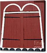 Old Red Kutztown Barn Doors Canvas Print by Anna Lisa Yoder