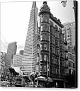 Old Sentinel - New Transamerica Canvas Print by David Bearden