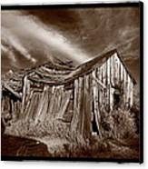 Old Shack Bodie Ghost Town Canvas Print by Steve Gadomski