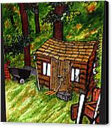Old Shed Shed Canvas Print by Ryan Lee