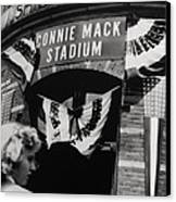 Old Shibe Park - Connie Mack Stadium Canvas Print by Bill Cannon