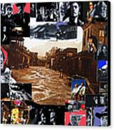Old Tucson Arizona Composite Of Artists Performing There 1967-2012 Canvas Print by David Lee Guss