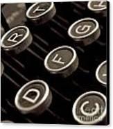 Old Typewriter Canvas Print by Bernard Jaubert