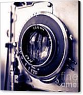 Old Vintage Press Camera  Canvas Print by Edward Fielding