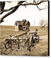 Old Wagon And Homestead II Canvas Print by Athena Mckinzie