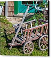 Old Wagon Canvas Print by Guy Whiteley