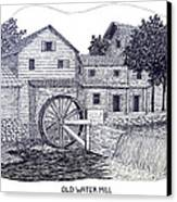 Old Water Mill Canvas Print by Frederic Kohli