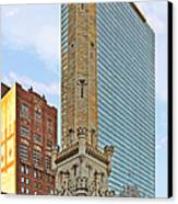 Old Water Tower Chicago Canvas Print by Christine Till