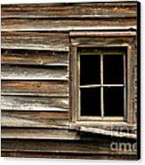 Old Window And Clapboard Canvas Print by Olivier Le Queinec