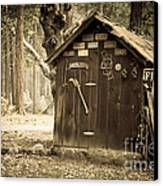 Old Wooden Shed Yosemite Canvas Print by Jane Rix