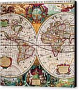 Old World Map Canvas Print by Csongor Licskai