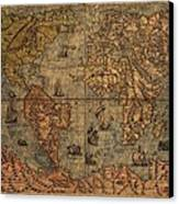 Old World Map Canvas Print by Dan Sproul