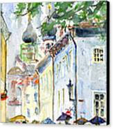 Oldtown Tallinn Estonian Canvas Print by John D Benson