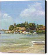 O'learys Tiki Bar Canvas Print by Shawn McLoughlin