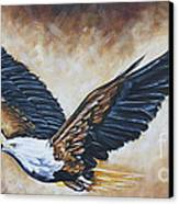 On Eagle's Wings Canvas Print by Ilse Kleyn