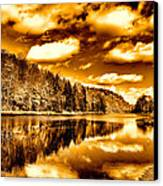 On Golden Pond Canvas Print by David Patterson