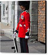 On Guard Quebec City Canvas Print by Edward Fielding