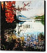 On Jordan Pond Canvas Print by Lianne Schneider