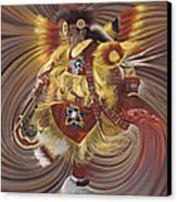 On Sacred Ground Series 4 Canvas Print by Ricardo Chavez-Mendez
