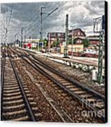 On The Tracks Canvas Print by Gregory Dyer
