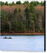 On Walden Pond Canvas Print by Jayne Carney