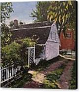 Onderdonk House  Garden Canvas Print by Victor SOTO