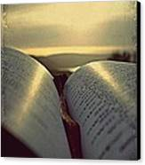 Open Bible Canvas Print by Anne Macdonald