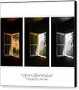 Open Cabin Window Trio Canvas Print by Julie Dant
