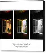 Open Cabin Window Trio Canvas Print by Julie Dant