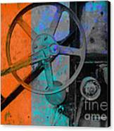 Orange And Blue  Canvas Print by Ann Powell