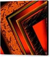 Orange And Brown  Canvas Print by Mario Perez