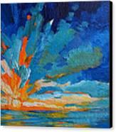 Orange Blue Sunset Landscape Canvas Print by Patricia Awapara