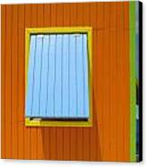 Orange Cabin Canvas Print by Randall Weidner