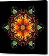 Orange Gazania IIi Flower Mandala Canvas Print by David J Bookbinder