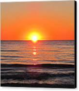 Orange Sunset  Canvas Print by Sharon Cummings