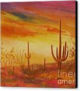Orange Sunset Canvas Print by Summer Celeste