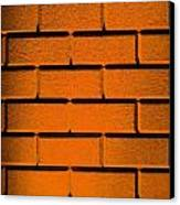 Orange Wall Canvas Print by Semmick Photo