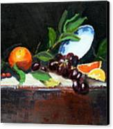 Oranges And Grapes Canvas Print by Gaye White
