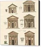 Origin And Development Of Architecture Canvas Print by Splendid Art Prints
