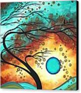 Original Bold Colorful Abstract Landscape Painting Family Joy II By Madart Canvas Print by Megan Duncanson